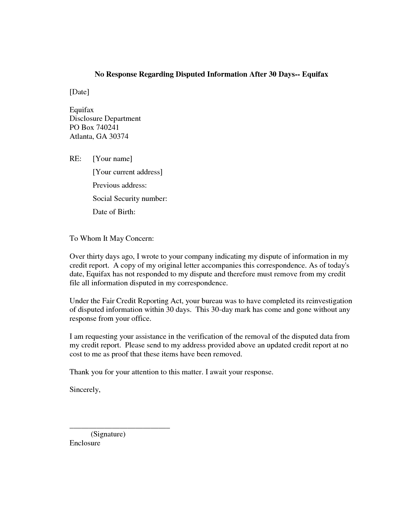 credit dispute letter template credit repair secrets exposed