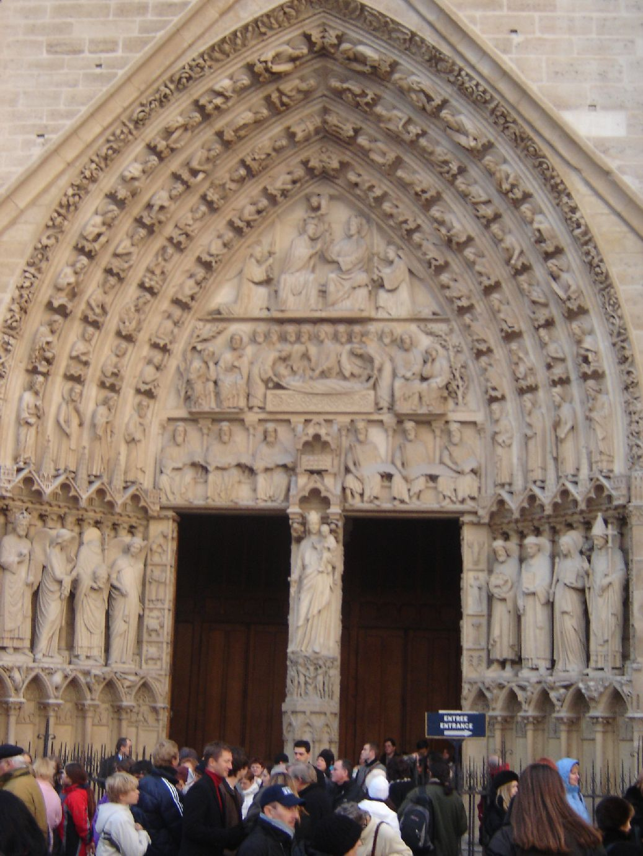 Catedral de notre dame par s siglo xiii una de sus for Avvolgere le planimetrie del portico