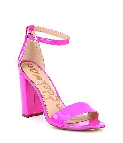 4a560cb4099 Sam Edelman Yaro Patent Leather Block Dress Sandals