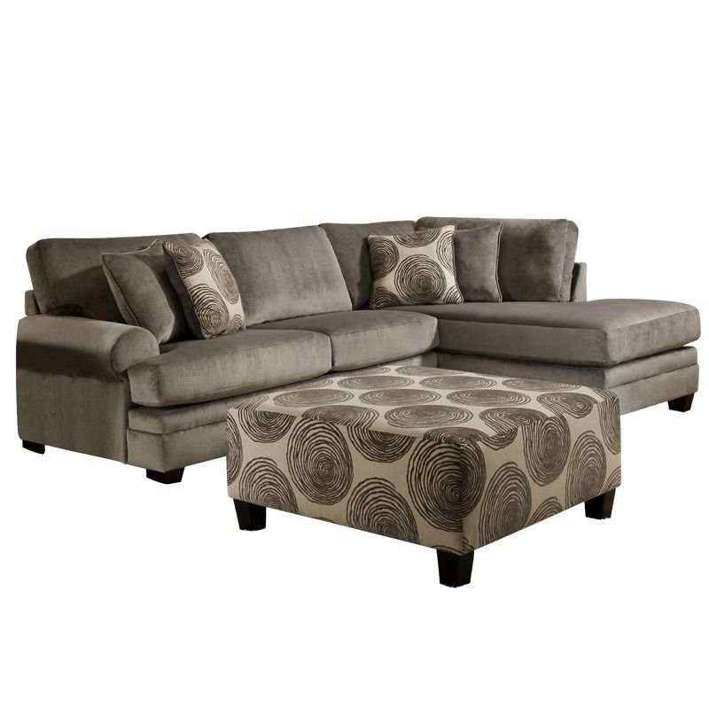 Get Comfortable On The Smoke 2 Piece Sectional From Albany Industries. Sofa  And Chaise With