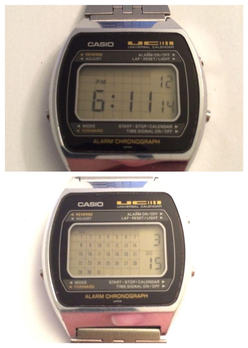 691809c5a Casio 79QS-39 Universal Calendar (1980) Casio Vintage Watch, Casio Watch,