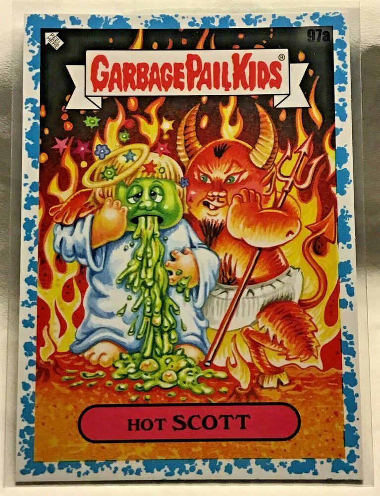 2020 Garbage Pail Kids 35th Anniversary Spit Blue Hot Scott 99 Gpk Nm Topps Ebay Garbage Pail Kids 35th Anniversary Kids