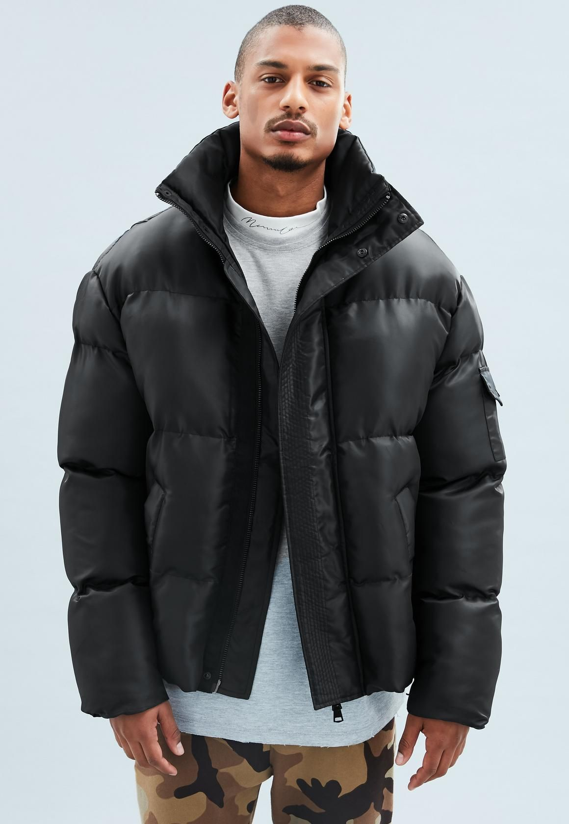 fce7ebe170d4 Mennace - Black Puffer Jacket. Mennace - Black Puffer Jacket Men s ...