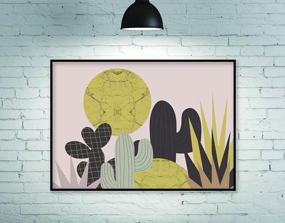 Botanical print horizontal wall art large wall art | FLATOWL\'s ...