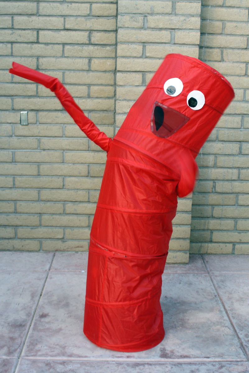 Easy Inflatable Tube Man Costume Tween halloween