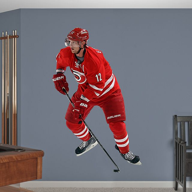 Eric Staal - Captain  REAL.BIG. Fathead – Peel & Stick Wall Graphic | Carolina Hurricanes Wall Decal | Sports Home Decor | Hockey Bedroom/Man Cave/Nursery
