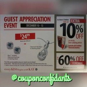 Kay Jewelers Customer Appreciation Event Coupon Confidants Customer Appreciation Kay Jewelers Appreciation