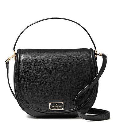 e7280402e62e Loving this Black Oliver Street Sadelle Leather Crossbody Bag on  zulily!   zulilyfinds