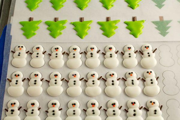 Christmas Royal Icing Transfers | Cookies!! | Pinterest | Royal ...