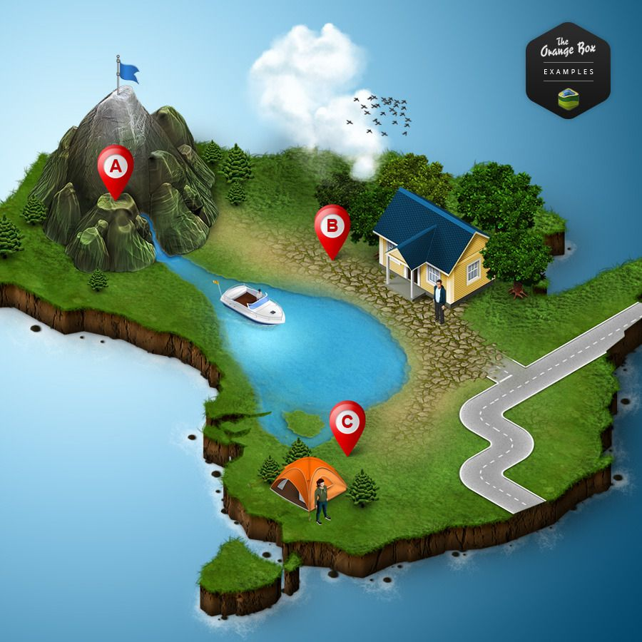 3D Map Generator 2 - Isometric | Maps & Island | Pinterest