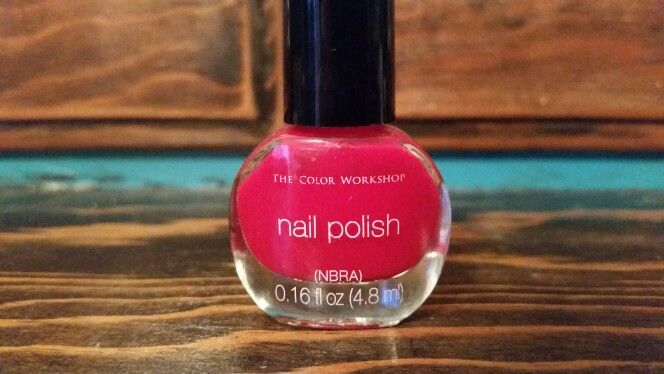The Color Workshop red polish, swatched