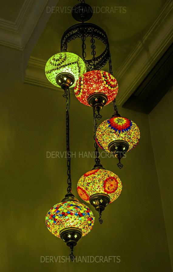 Hanging Lamp Ceiling Moroccan Decor Turkish Lantern Rustic