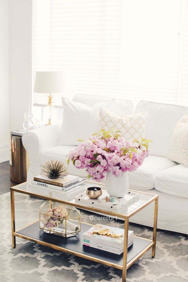 Pleasing Living Room Coffee Table Styling White And Gold Uwap Interior Chair Design Uwaporg