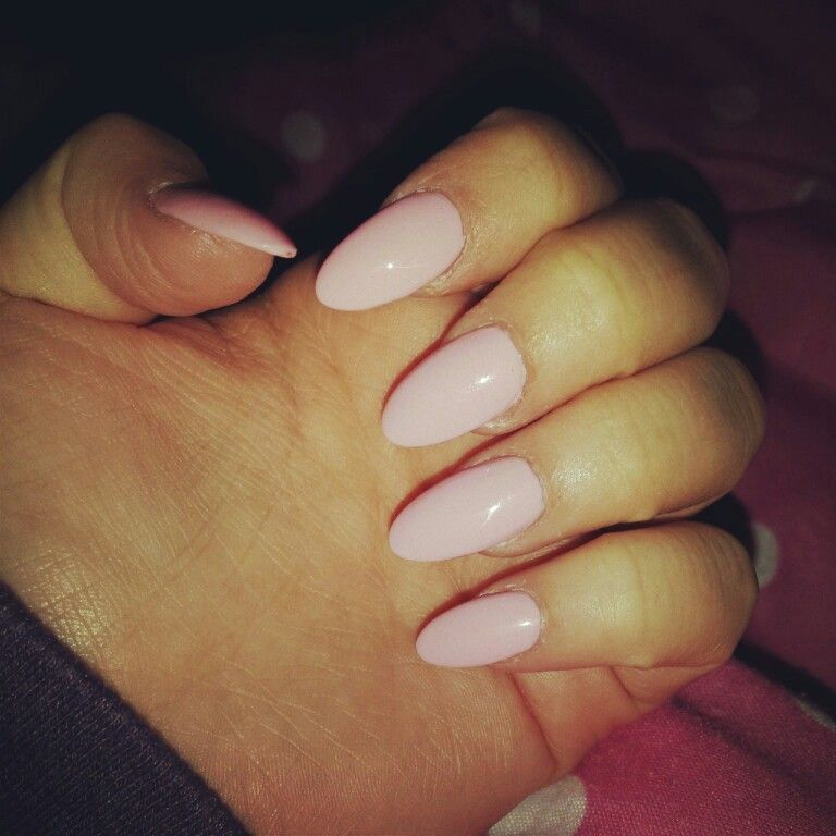 Plain And Simple Baby Pink Short Stiletto Acrylic Nails Trendy Nails Gel Manicure Nails Red Nails