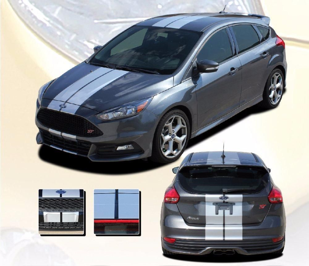 2016 2018 Ford Focus Target Rally Racing Stripes Vinyl Graphic