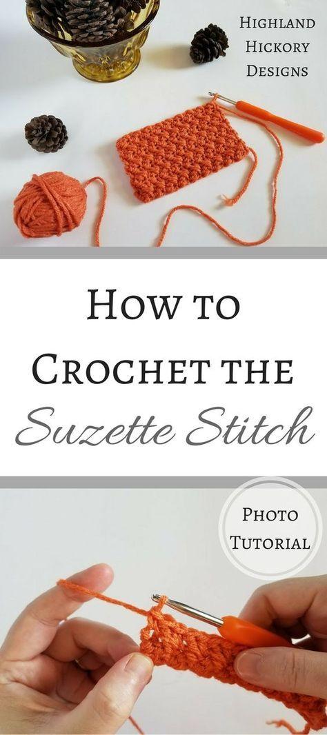 How to Crochet the Suzette Stitch | Puntadas, Tejido y Ganchillo