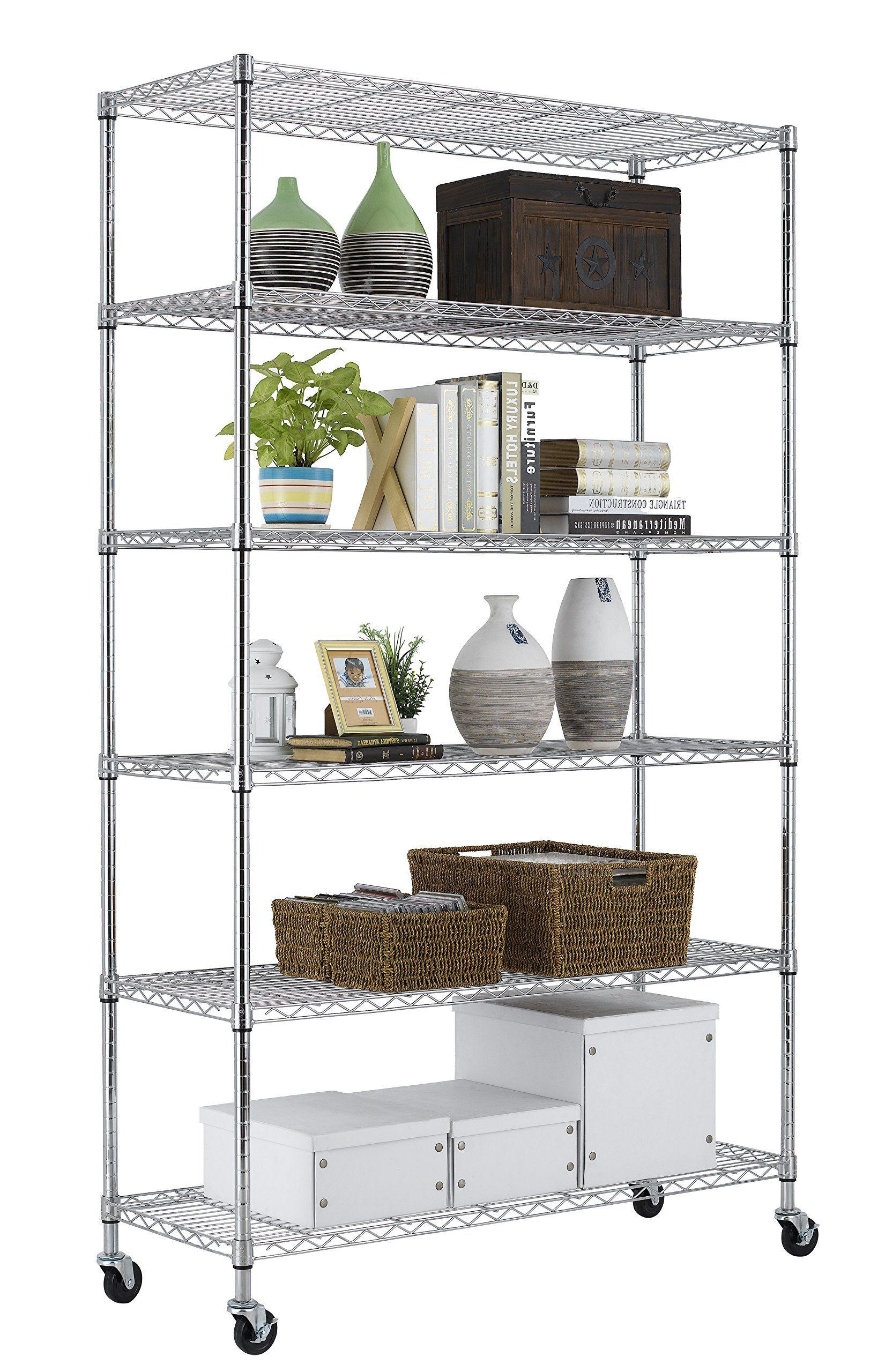 PayLessHere Chrome 6 Shelf Commercial Adjustable Steel shelving ...