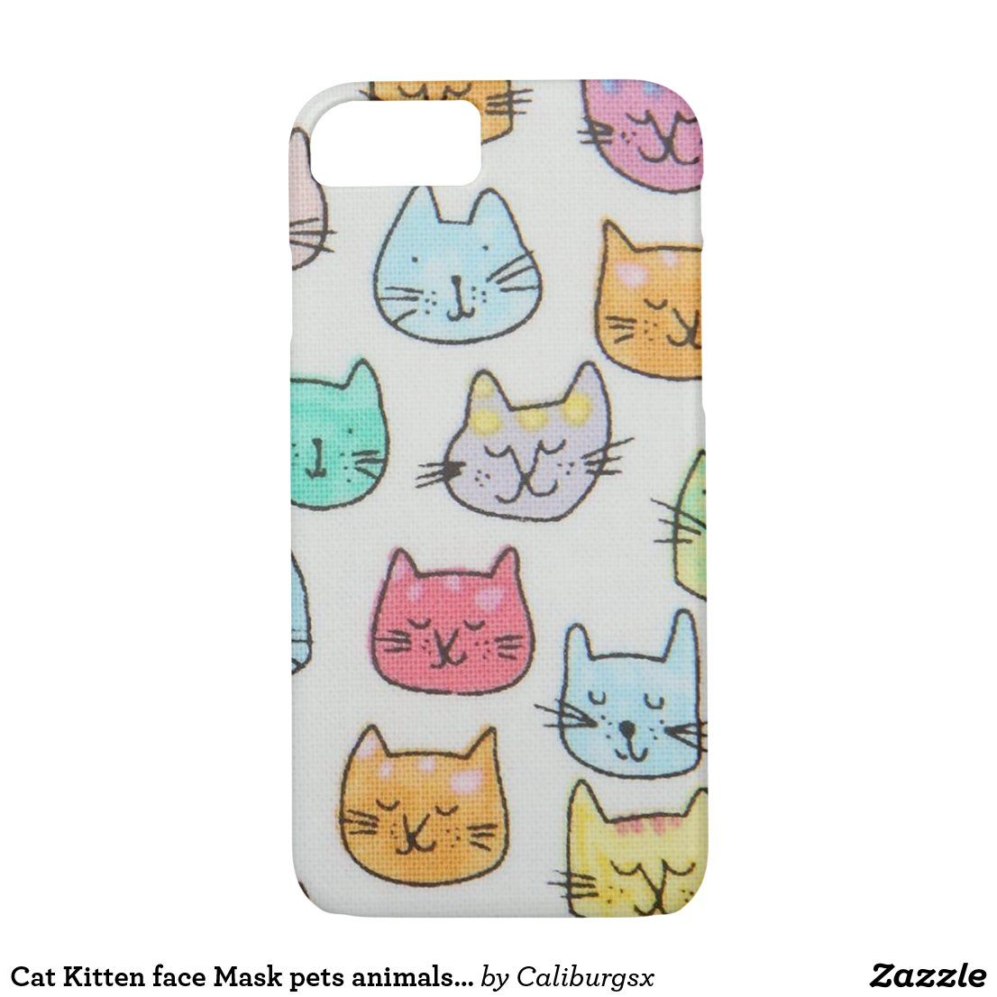 Cat Kitten Face Mask Pets Animals Mom Kitty Case Mate Iphone Case Zazzle Com In 2020 Cats And Kittens Pet Gifts Kitten