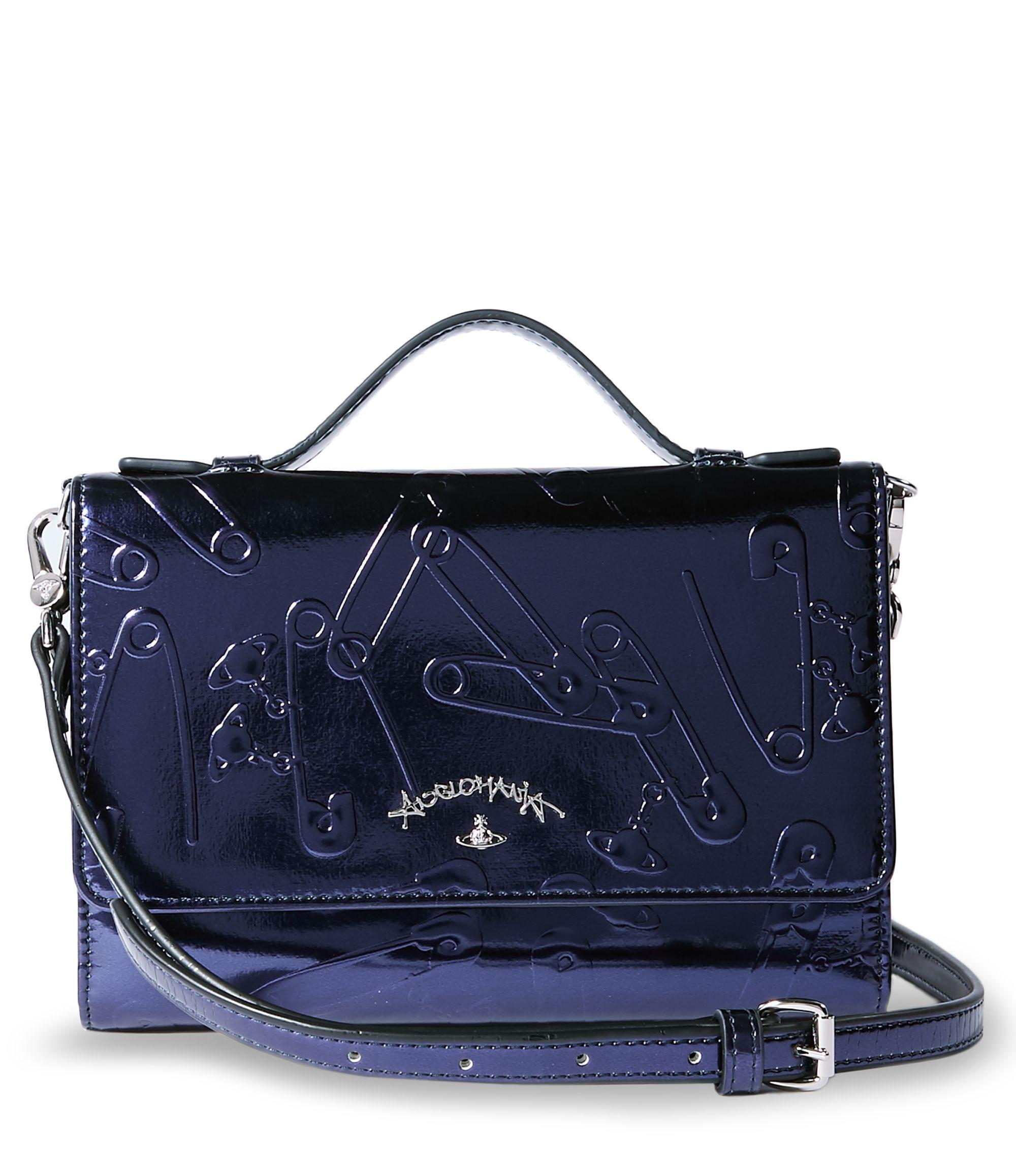 Blue Metal Safety Pin Travel Bag 321249 Vivienne Westwood