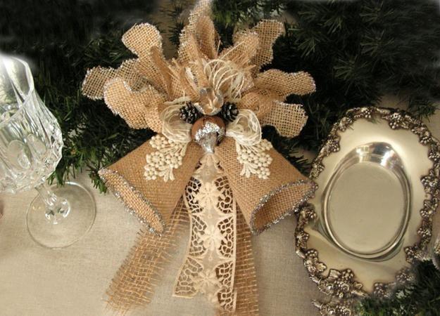 Artesanato de Natal e decorações do feriado verdes