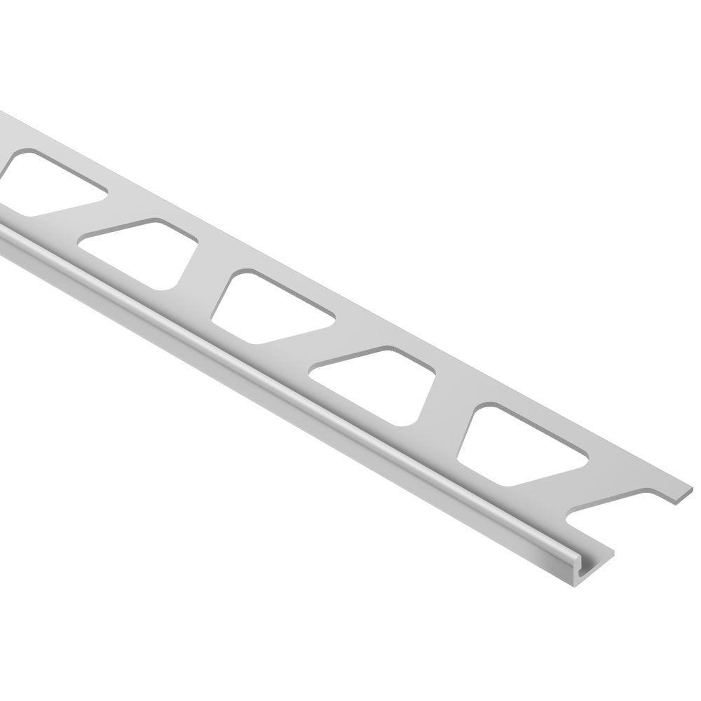 Schluter Schiene Satin Anodized Aluminum 3 32 In X 8 Ft 2 1 2 In