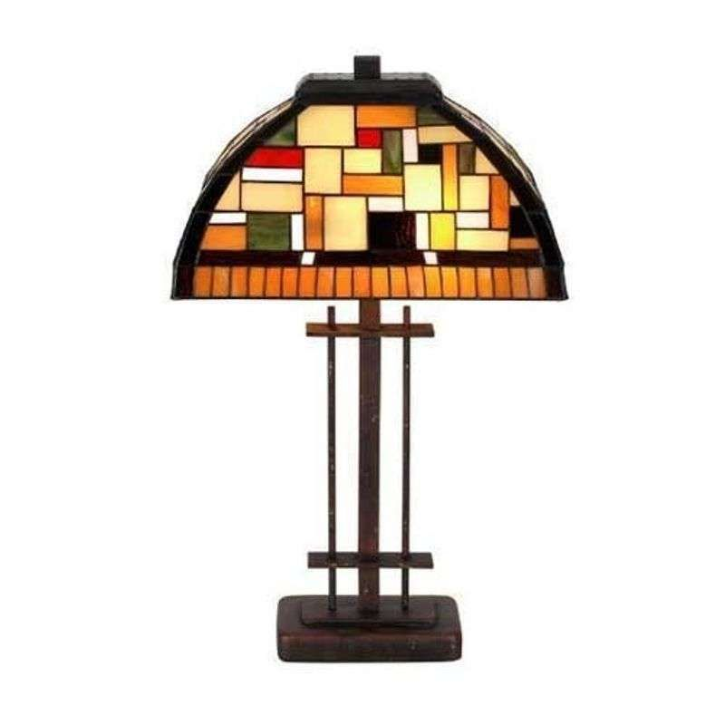 Mosaica Tafellamp In Tiffany Stijl Tafellamp Lampen Plafondlamp