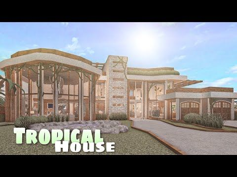 Bloxburg: Mansion Tropical House    House Build