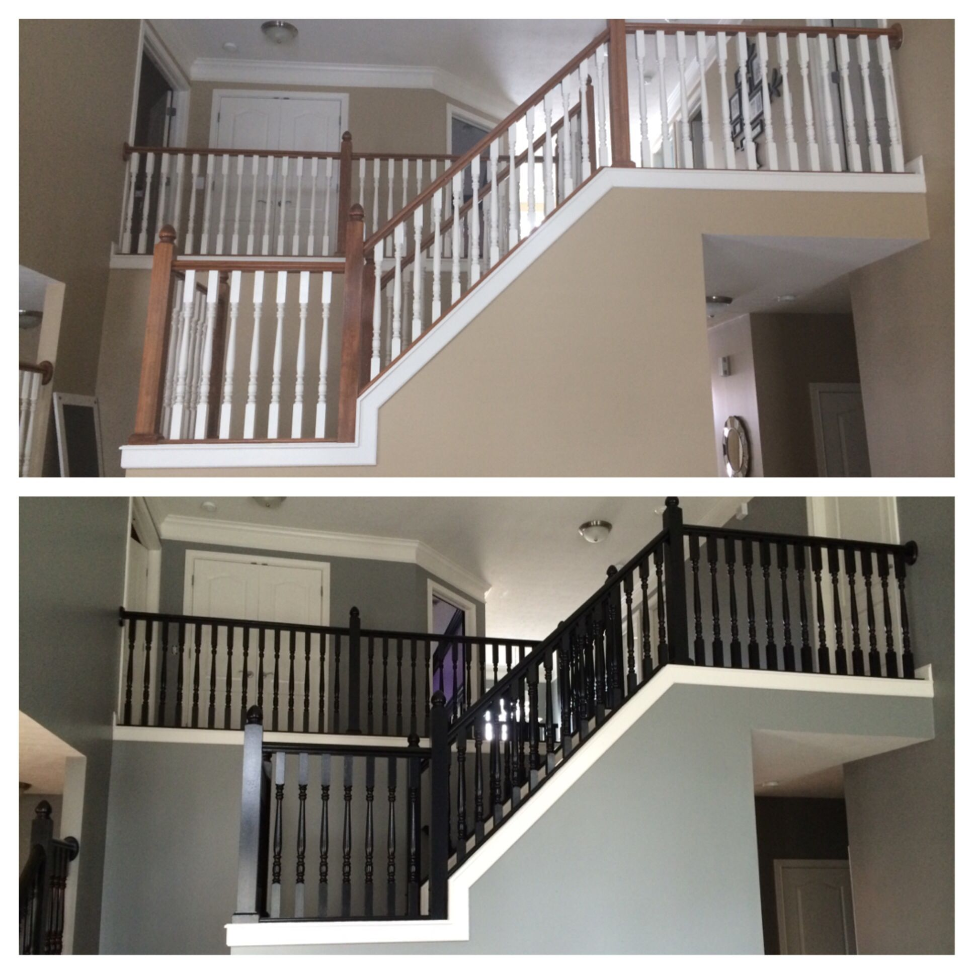 Tricorn Black Stairs With Classic French Gray Walls