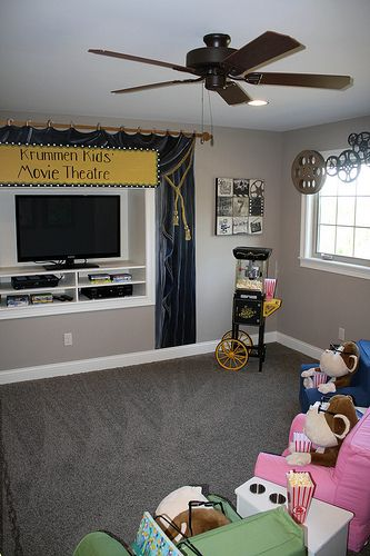 Child Theater Room Home Theater Rooms Kid Spaces Room
