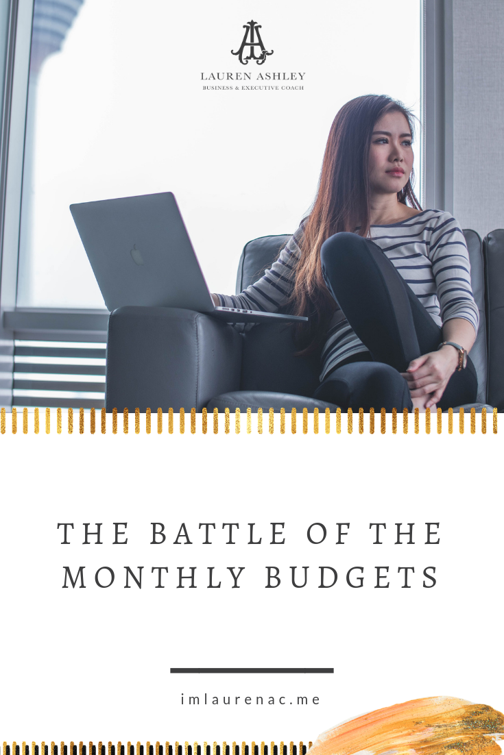 the battle of the monthly budgets business finances pinterest