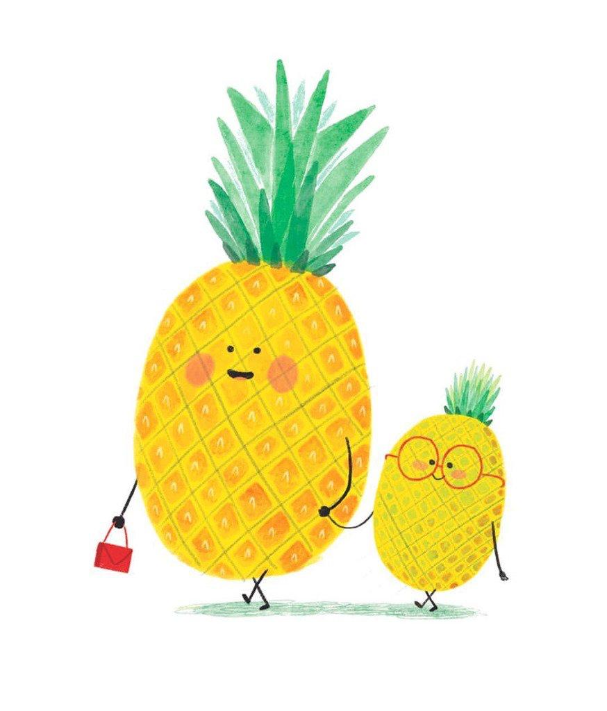 Картинки с ананасом смешные