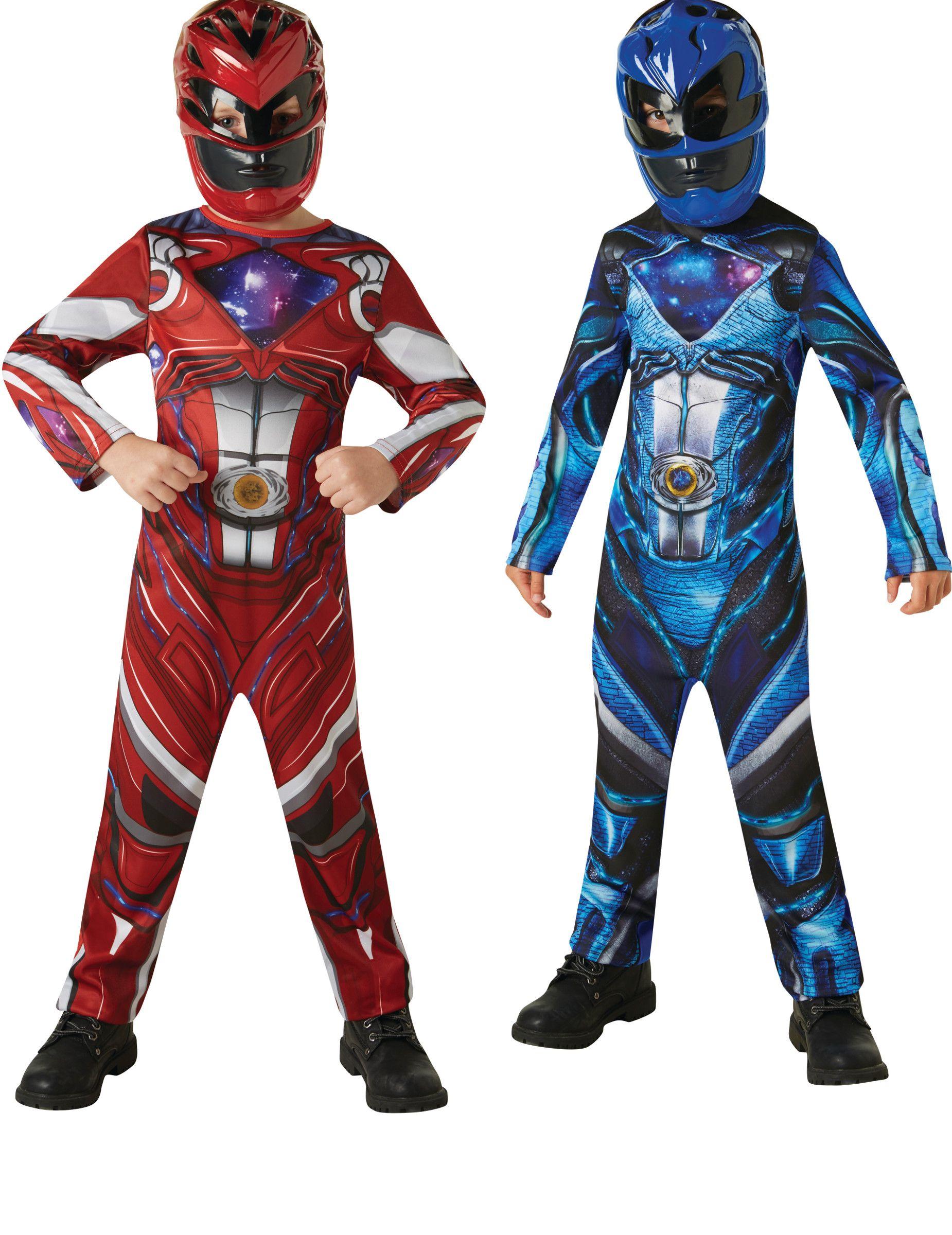 Power Rangers™-Paarkostüm für Kinder rot-blau  1f2311bd9737