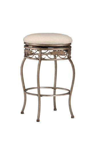 Hillsdale Bordeaux 26 Inch Backless Swivel Counter Stool Pewter