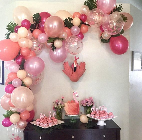 9346331f7a2 Balloon Garland DIY Balloon Garland Kit Flamingo Party Tropical Party  Bachelorette Hot Pink Rose Gold Coral Nude Pink Balloon Garland Summer