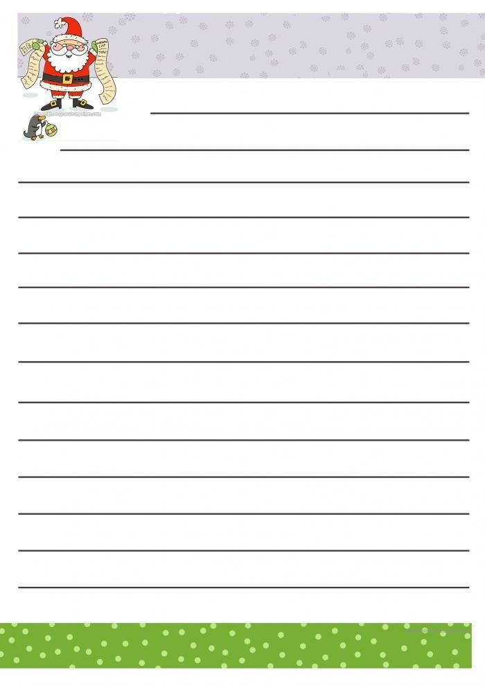 Papier a lettre au pere noel gratuit a imprimer pour liste des cadeaux diy lettre pere noel - Liste pere noel imprimer ...