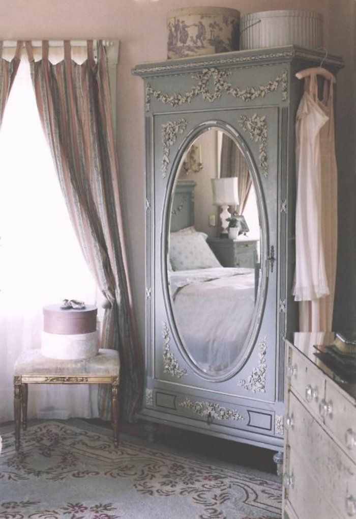la deco chambre romantique 65 id es originales armoires pinterest deco. Black Bedroom Furniture Sets. Home Design Ideas