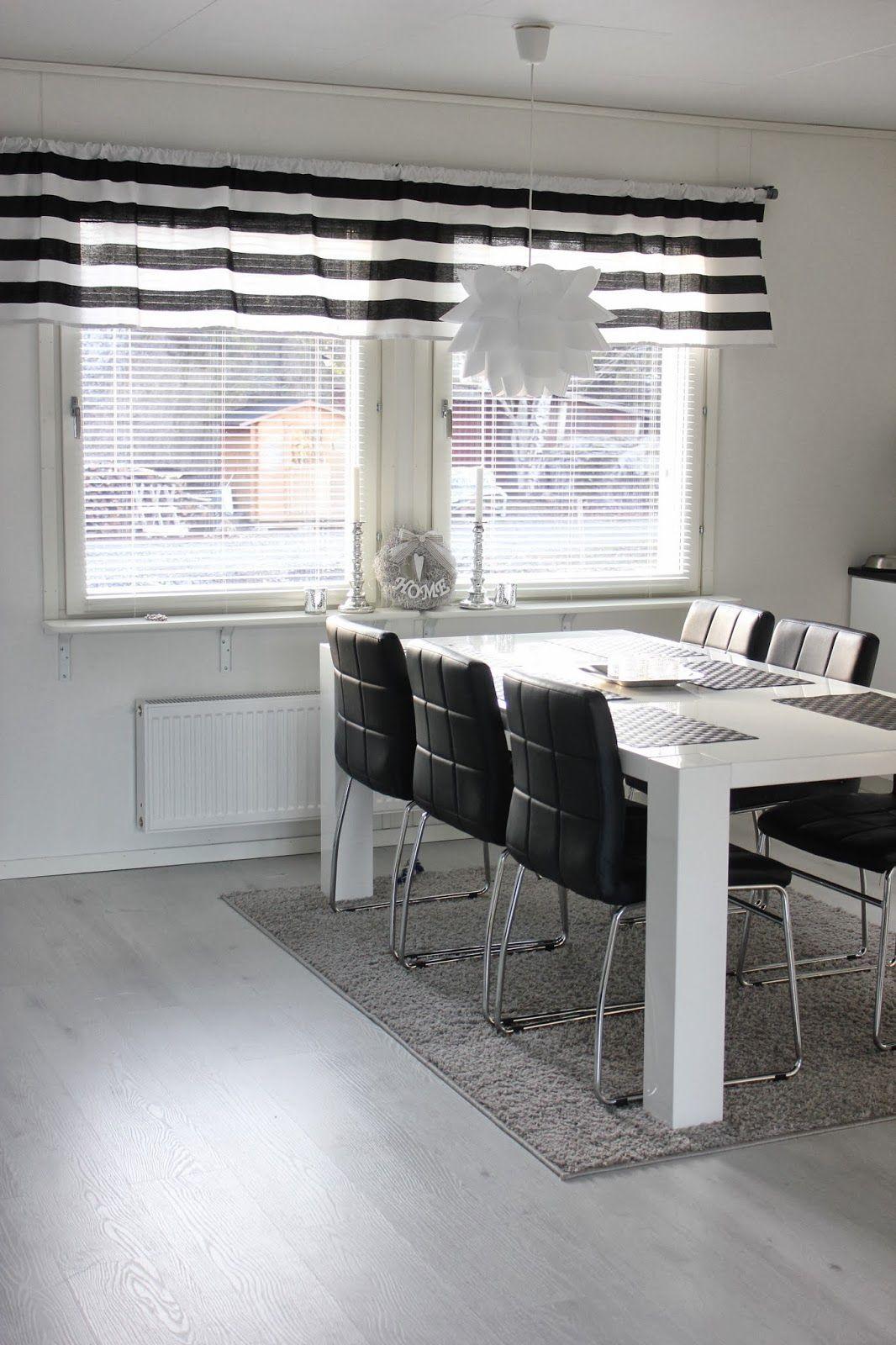 Rakkaudella Rouva M Keittiön uudet verhot  kitchen and dining room  Pinter
