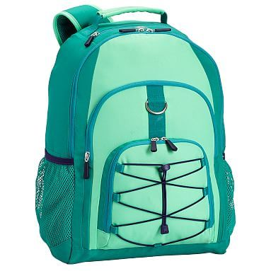 Gear Up Mint Colorblock Backpack Pbteen Pottery Barn