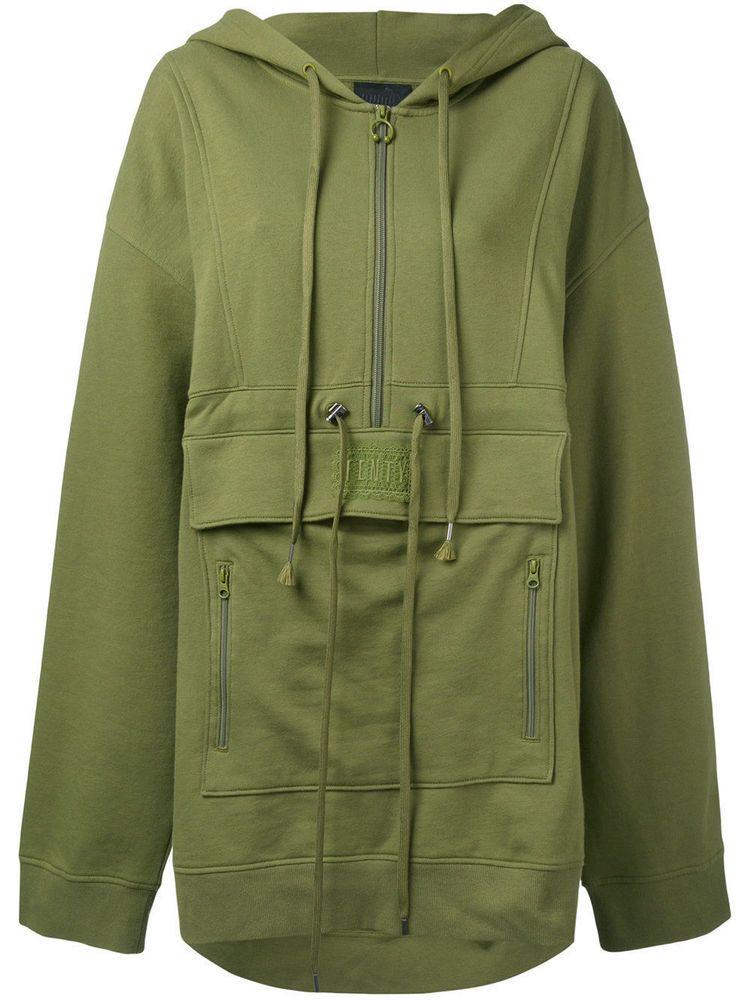 1ab546bc284 FENTY X PUMA Rihanna Green Sweatshirt Women Olive Pullover Hoodies Zip  Size  L  PUMA