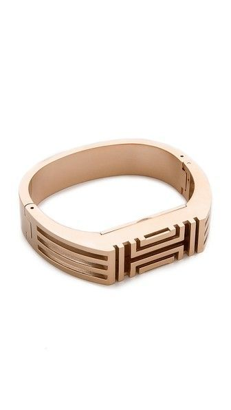 47d1cf5e632c Tory Burch for FitBit Metal Hinged Bracelet
