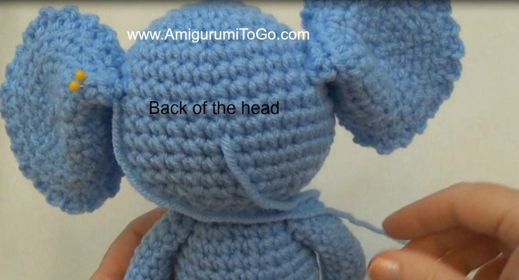 Little Bigfoot Elephant Video and Pattern ~ Amigurumi To Go #crochetelephantpattern