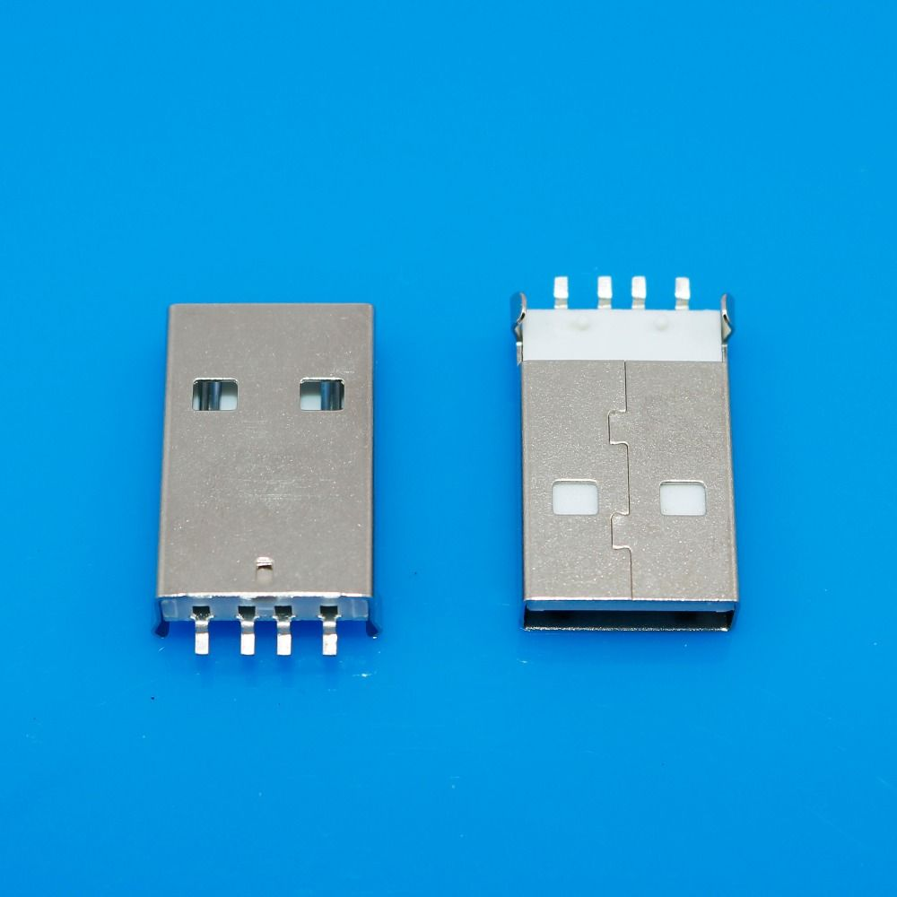 Male Usb Receptacle Type A Connector Pcb Vertical Mount Socket Electronic Accessories Sockets Connectors