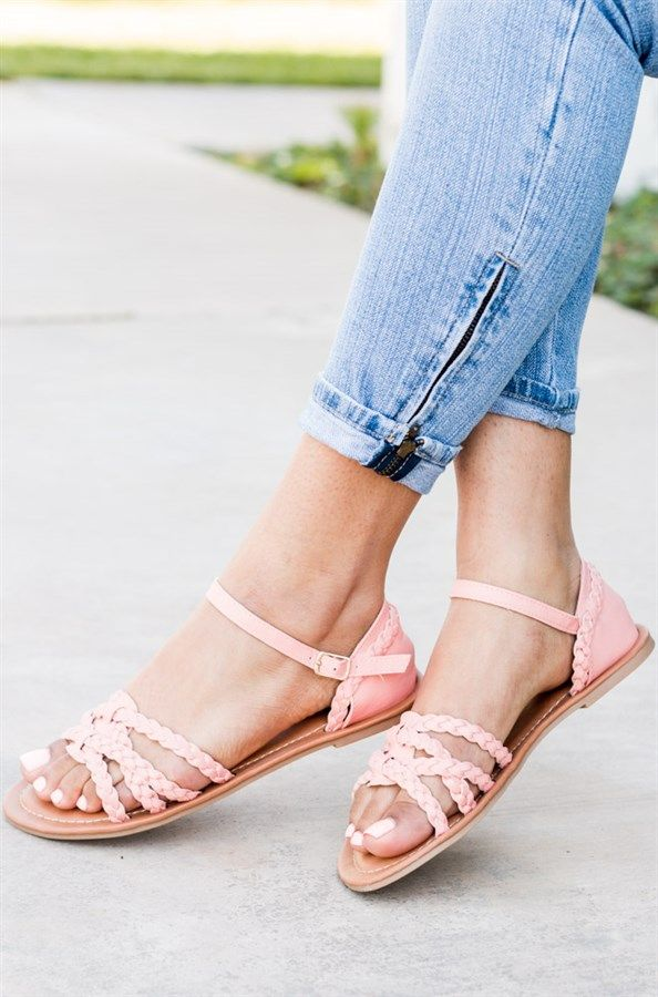 1fc4fec2930c These super fashionable sandals feature an open toe front with braided style  look.