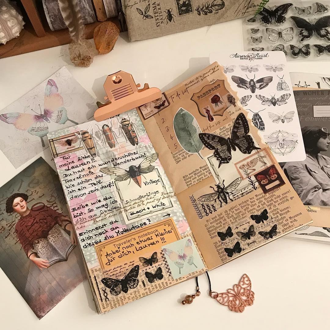 """Anja on Instagram: """"Good Morning ☕️🥐 Mein kleiner Eintrag in Laurens @liebeistkrass Wanderbuch…. – – – #inspiremehome #inspireme #insect #interieur #onmydesk…"""""""