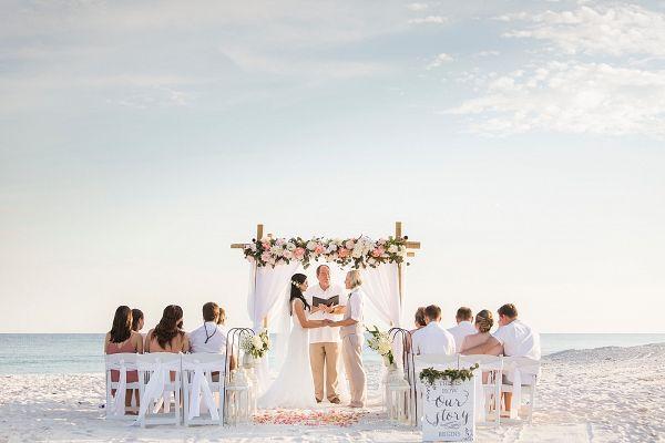 Intimate Florida Beach Wedding With Images Beach Wedding