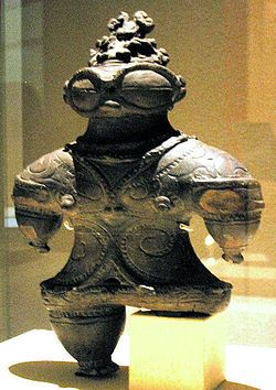 Jōmon Period-- is the time in Prehistoric Japan from about 12,000 BC and in some cases cited as early as 14,500 BC to about 300 BC, when Japan was inhabited by a hunter-gatherer culture which reached a considerable degree of sedentism and cultural complexity.