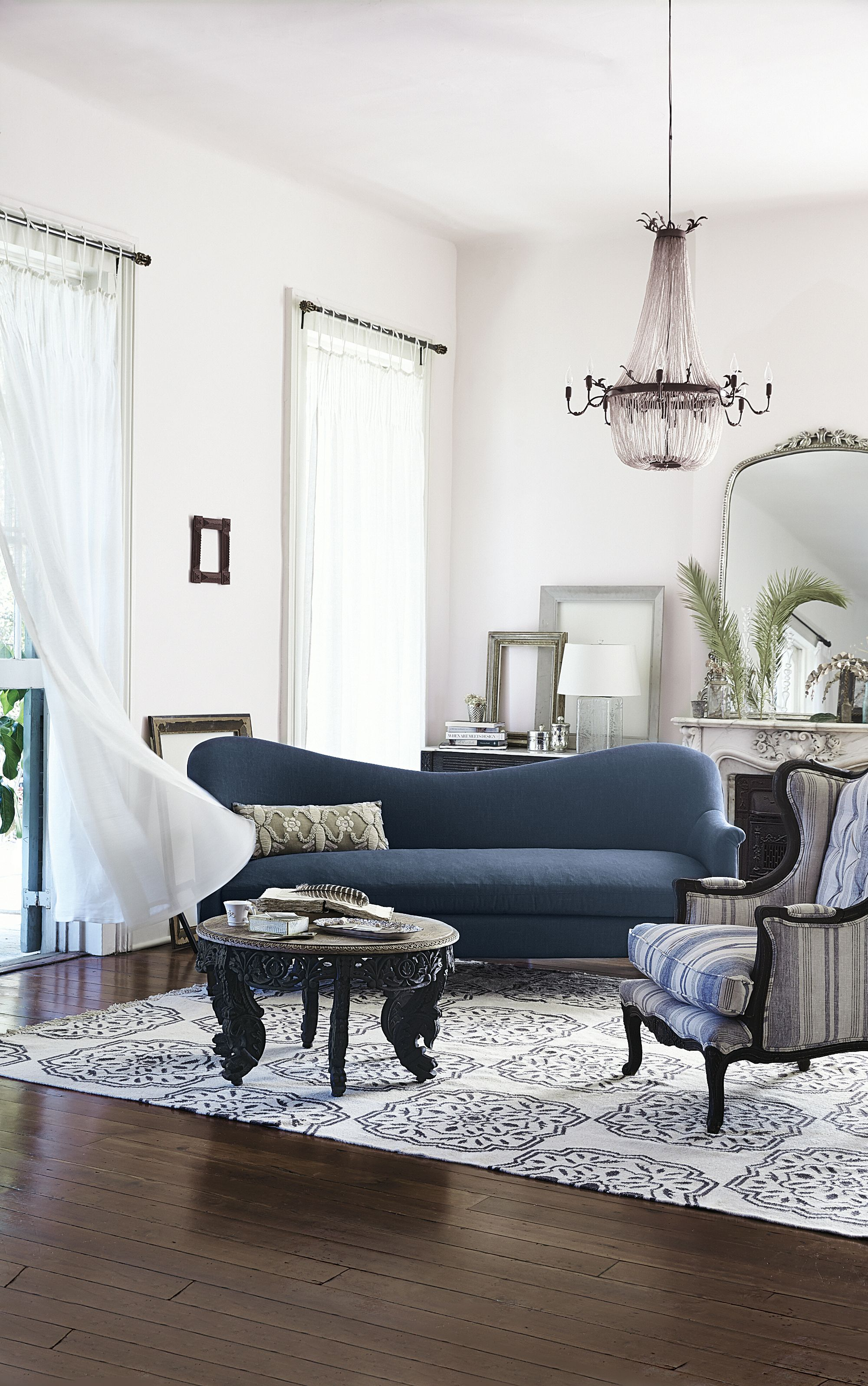 Linen Pied-A-Terre Sofa, Wilcox | Pinterest | Anthropologie, Living ...