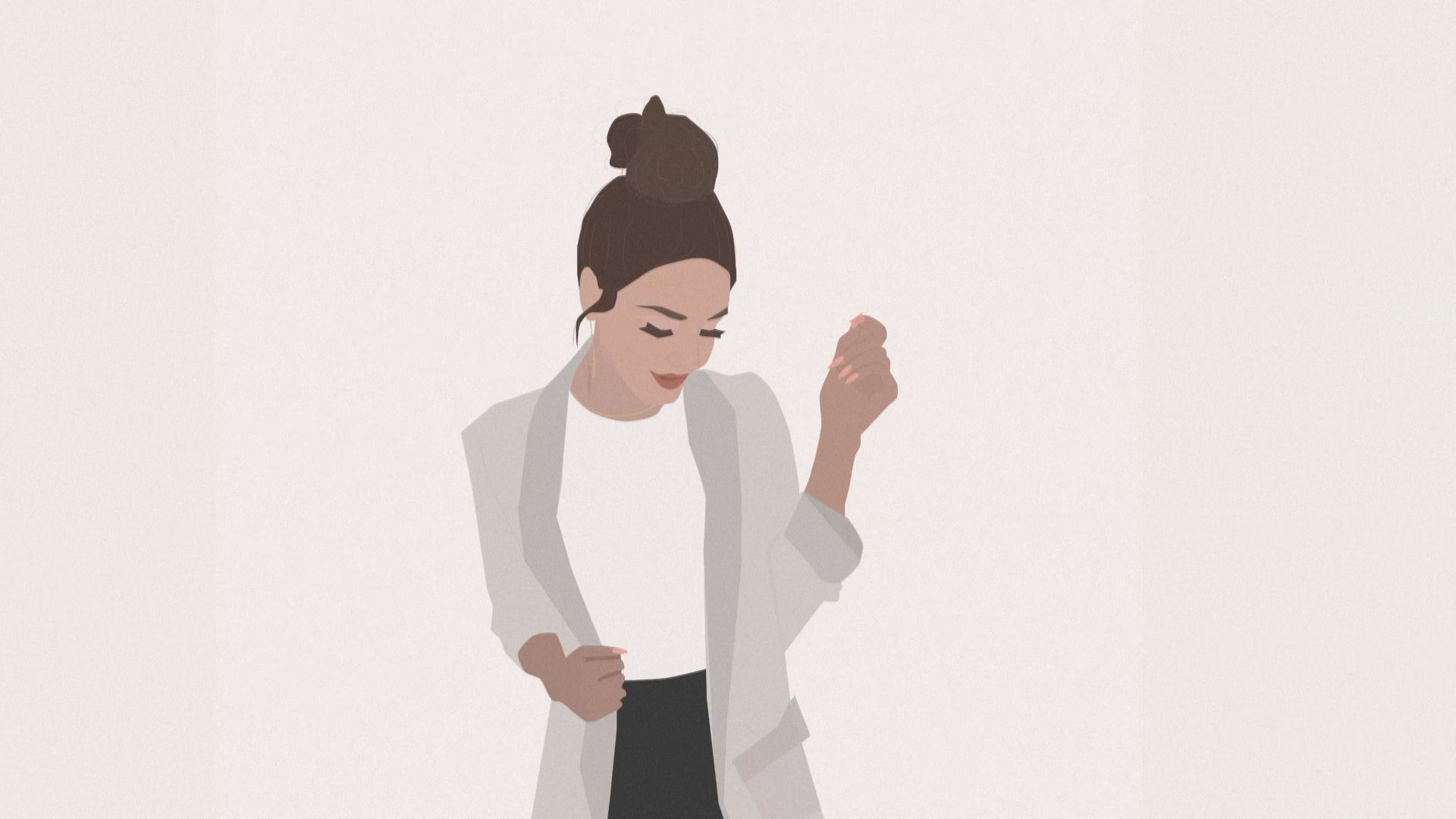 Chic Bun Style Illustration | Time-lapse