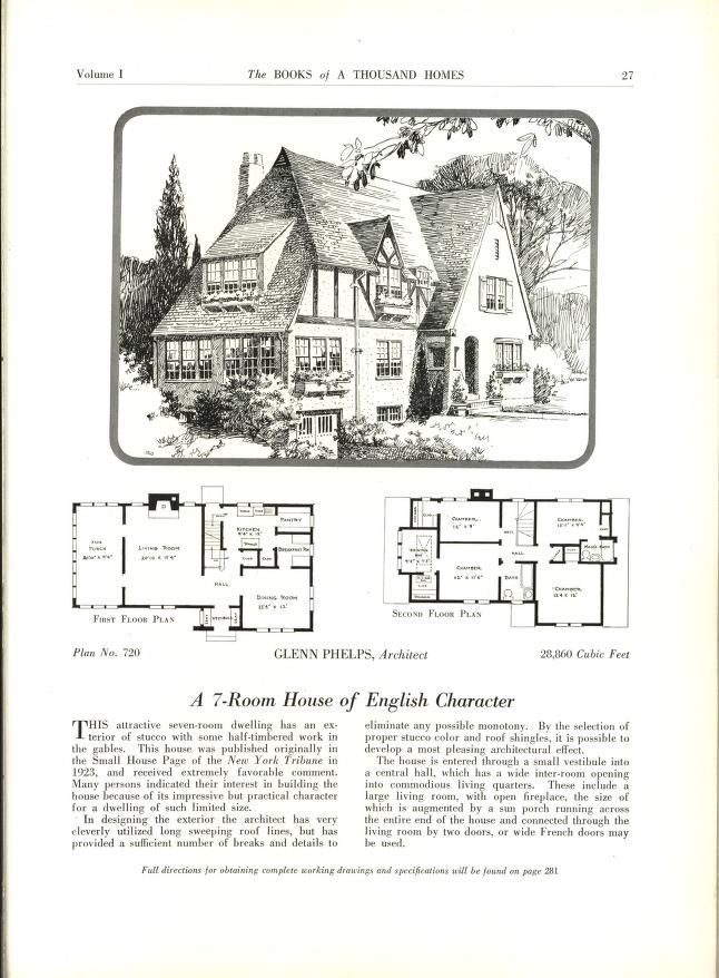 The Books Of A Thousand Homes Vol 1 Home Owners Service Institute Free Download Borrow And Streaming Vintage House Plans How To Plan House Floor Plans