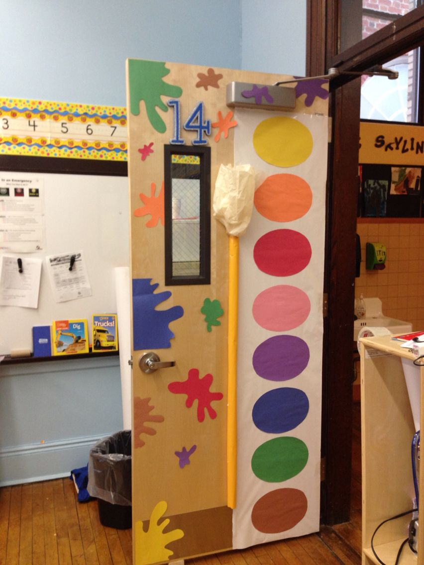 Art classroom door playground pinterest art classroom